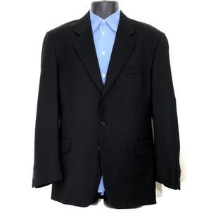 Oleg Cassini Black 41R 3-Button Black Suit